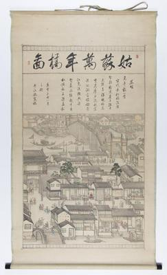 A Picture of the Ten-Thousand Year Bridge in Suzhou