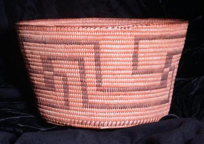 Basket with Geometric Design