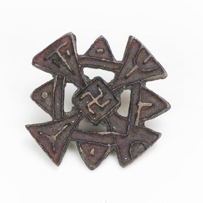 Nestorian Cross Hat Badge