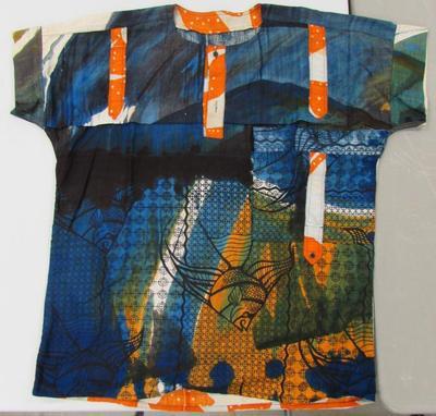 Man's Shirt with Fish Design
