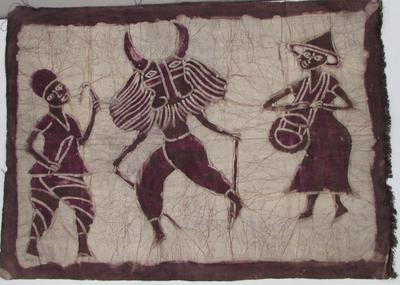 Batik Cloth with Masquerade Dancer