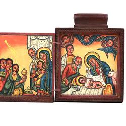 Pendant Icon with the Nativity and the Adoration of the Magi