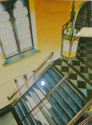 Diment Chapel-main stairwell
