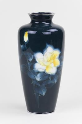Cloisonne Vase with Yellow Flower