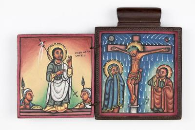 Pendant Icon with the Crucifixion and Resurrection of Christ