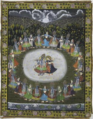 Krishna and Radha in Divine Dance of Love
