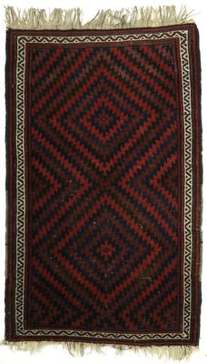Rug with Stepped Lozenge Design