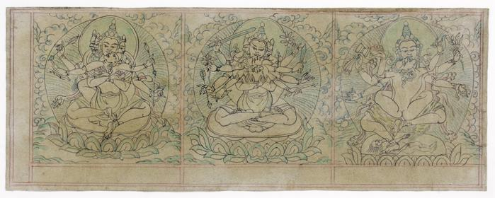 One in a set of 29 double-sided drawings of Buddhist subjects